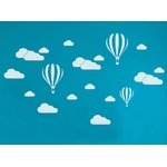 1259 sticker mongolfieres et nuages