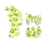 1374 lot de 12 stickers papillons unis 3D vert