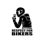 Autocollants-de-voiture-en-vinyle-15x11CM-Autocollants-et-autocollants-de-Respect-pour-les-motards-autocollants-de
