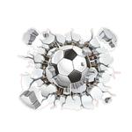 stickers football autocollants muraux ballon foot enfants decoration chambre garcon sport