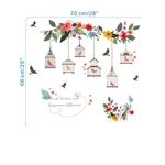 1217 Sticker Cages à oiseaux - taille