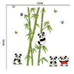 1224 Sticker Pandas bambous - taille