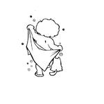 1277 Sticker Enfant et son chat fblanc