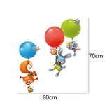 1274 Sticker Animaux ballons - taille