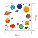1448 Sticker Planètes rigolotes - taille