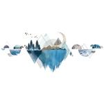 Shijuekongjian-poisson-Stickers-muraux-bricolage-montagne-rivi-re-Stickers-muraux-pour-enfants-chambres-b-b