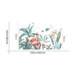 1470 Sticker Flamants roses et plantes - TAILLE