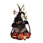 1489 Stickers Chats Halloween - CHAT GRIS - FB