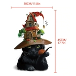 1489 Stickers Chats Halloween - CHAT NOIR - TAILLE