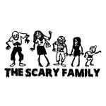 1499 Sticker Famille zombie