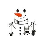Autocollants-muraux-bonhomme-de-neige-de-no-l-Autocollant-de-r-frig-rateur-joyeux-d-licieux