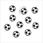 stickers football autocollants foot muraux ballon enfants decoration chambre garcon sport