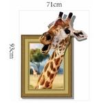 Autocollant-mural-girafe-joyeux-tiquette-d-corative-en-vinyle-3D-pour-la-maison-d-corations-murales