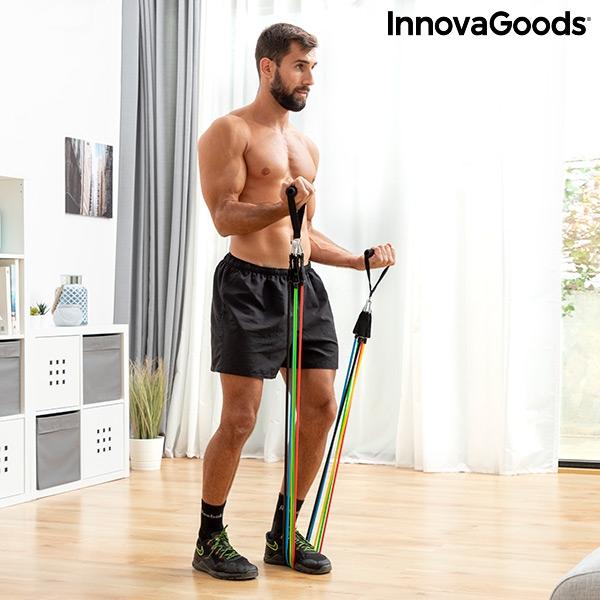 set-de-bandes-de-resistance-avec-accessoires-et-guide-d-entrainement-rebainer-innovagoods_137931