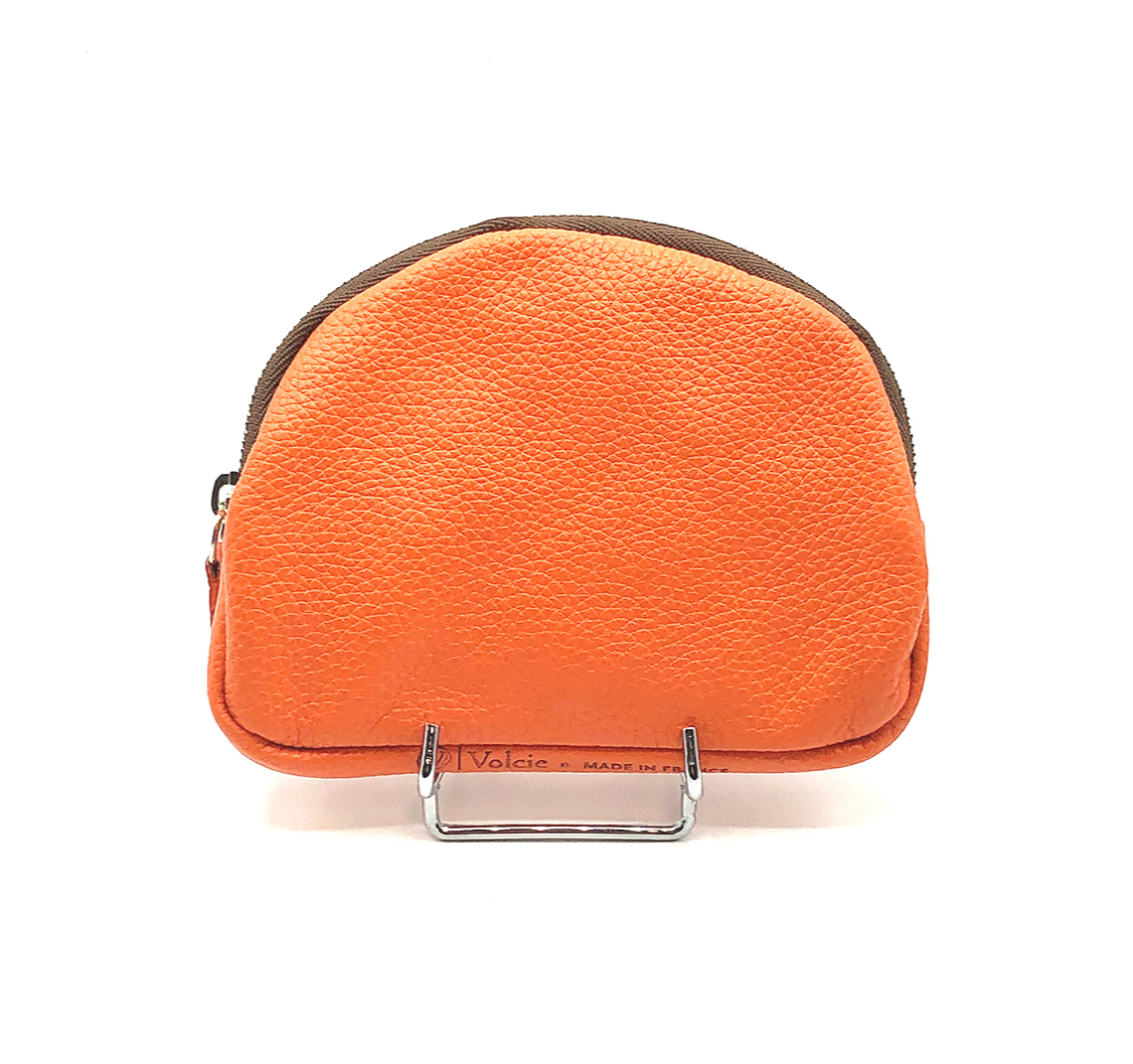 Porte monnaie Kate cuir grainé orange