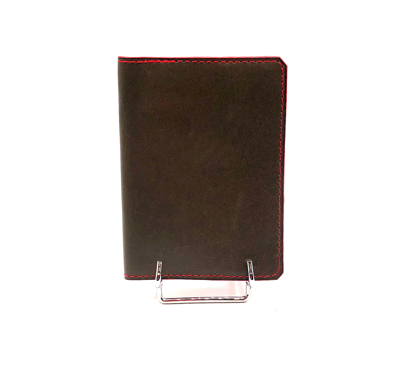 Porte carte Clément cuir lisse marron