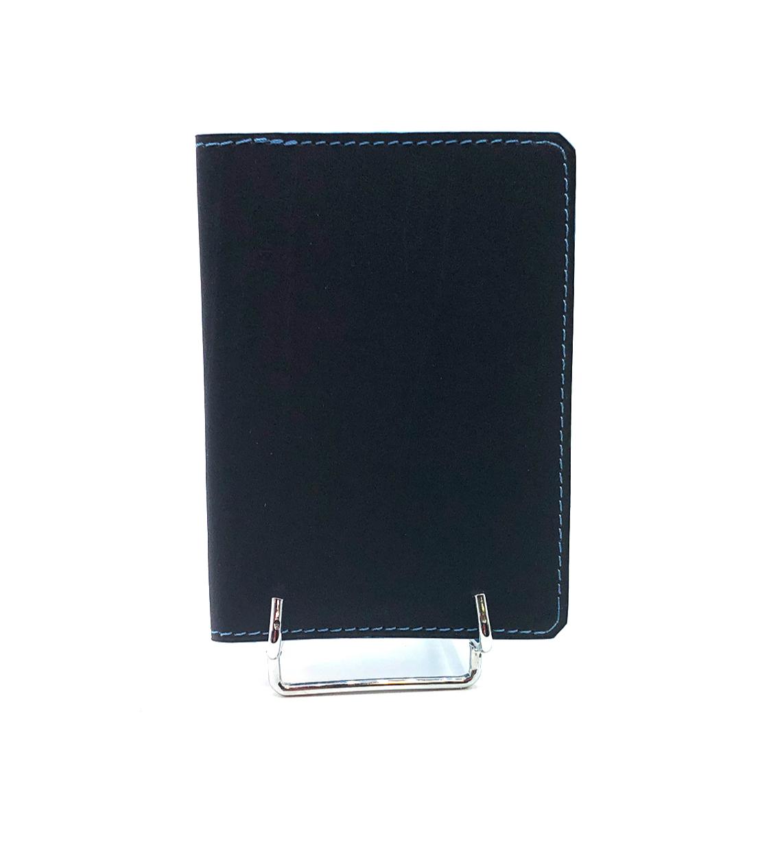 Porte carte Clément cuir lisse bleu foncé