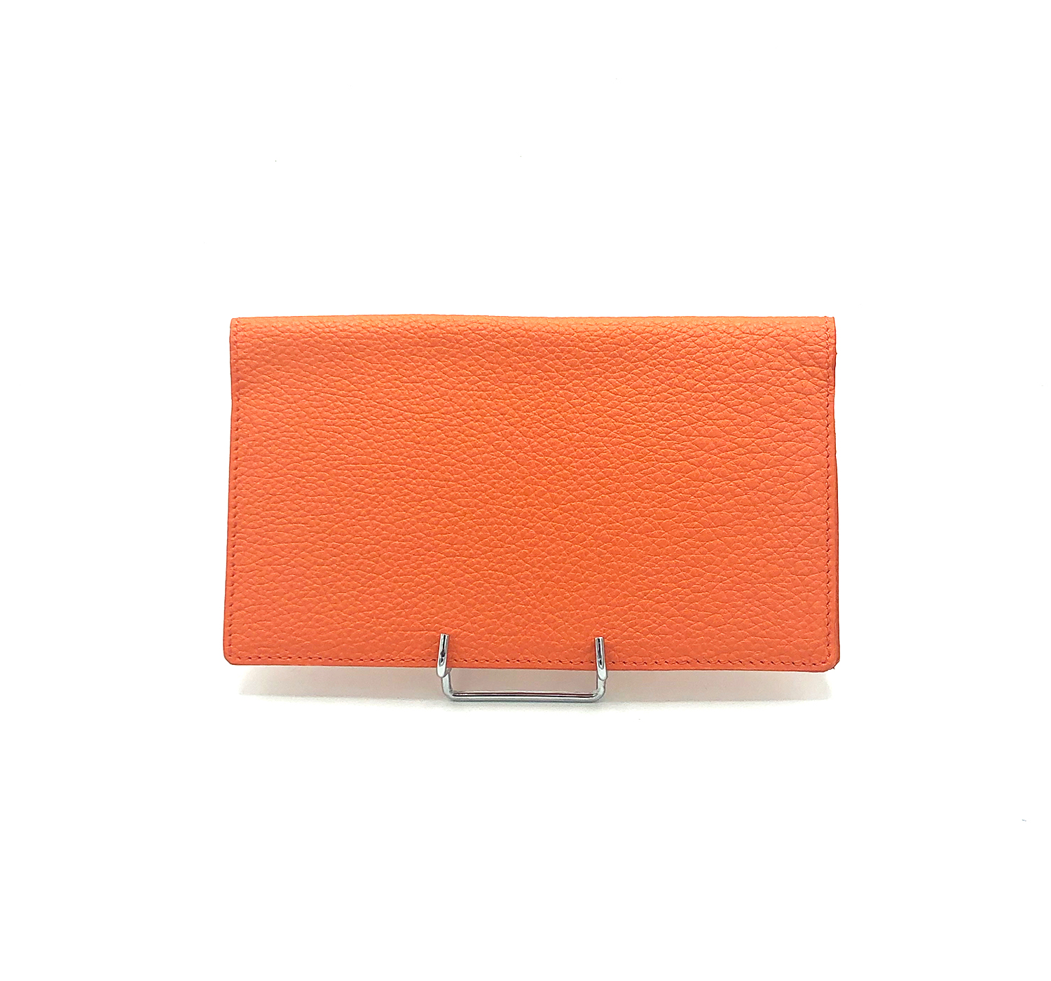 Porte Chéquier cuir grainé orange