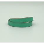 bracelet cuir double tour vert