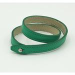 bracelet cuir double tour vert-face
