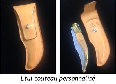 etui couteau cuir - volcie maroquinerie