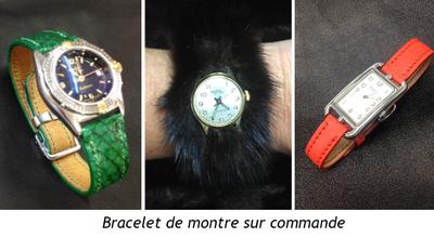 bracelet de montre sur commande-volcie maroquinerie