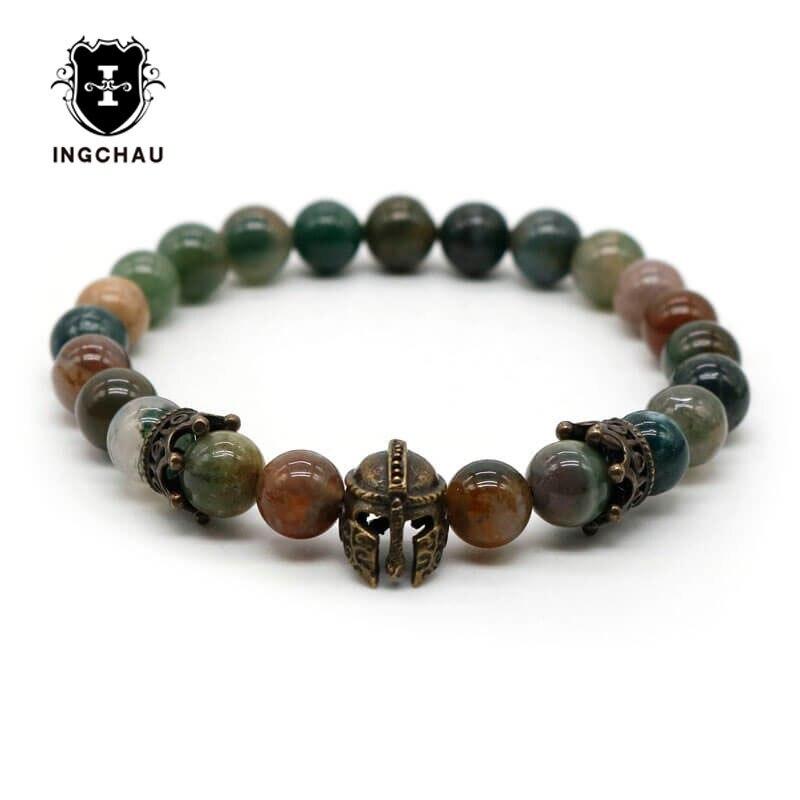 Bracelet-de-chevalier-romain-Antique-en-Bronze-pour-hommes-bijoux-de-gladiateur-avec-perle-en-pierre