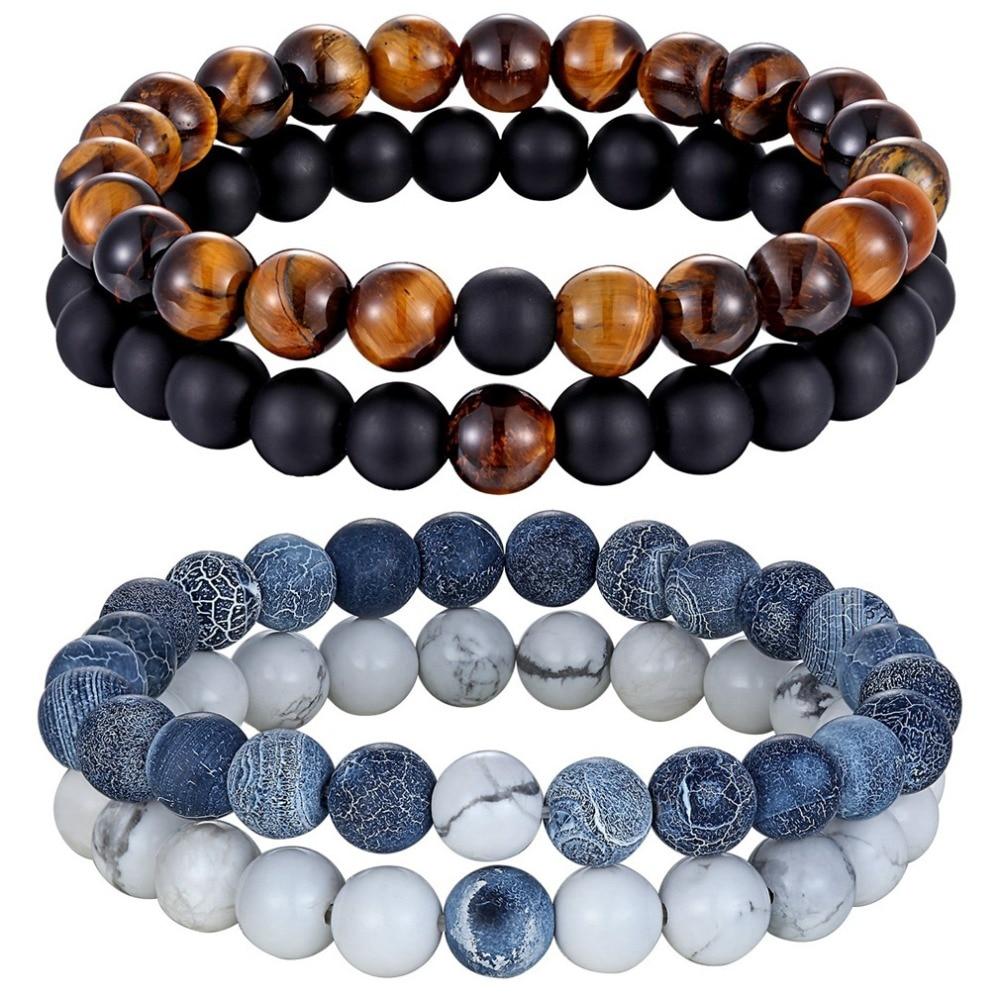 Bracelet Charme : perles en pierre naturelle