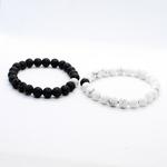 Couple-Bracelet-Bracelets-hommes-accessoires-blanc-noir-perles-fait-la-main-2-pi-ces-ensemble-Erkek