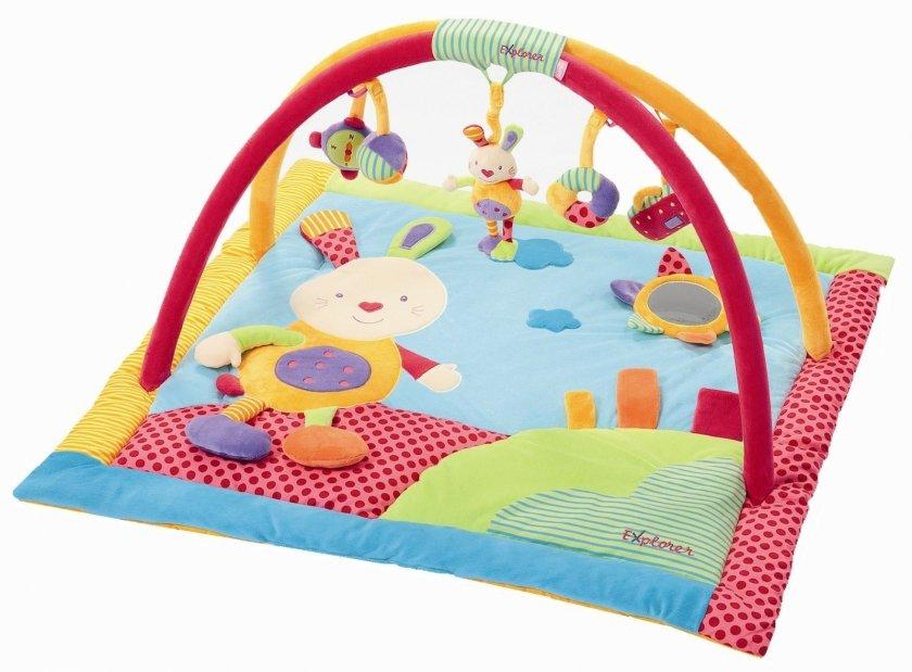 Chambre Bebe Violet Et Bleu : Tapis déveil Lapinou  Cadeau chambre bébéTapis déveil bébé