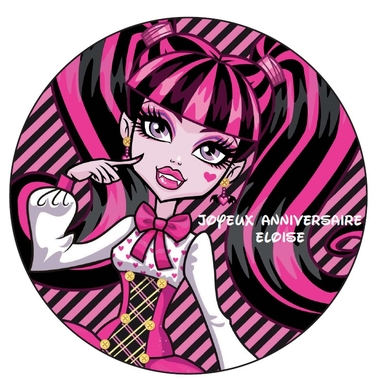 disque azyme photo sur gateau monsterhigh