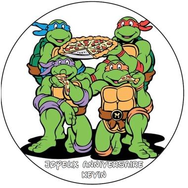 disque azyme photo sur gateau  tortues ninja