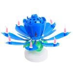 fleur bougie bleue