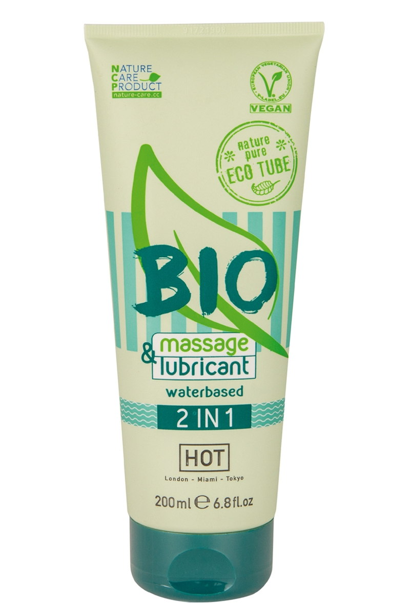 Massage & lubrifiant bio 200ml HOT