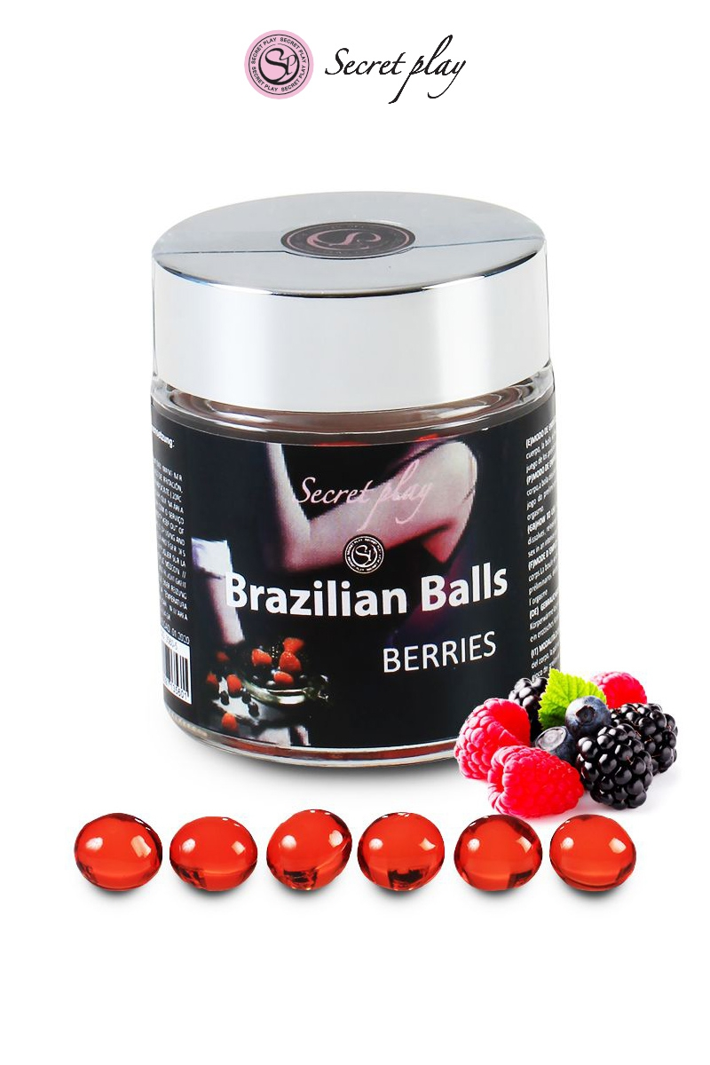 6 Brazilian Balls baies rouges
