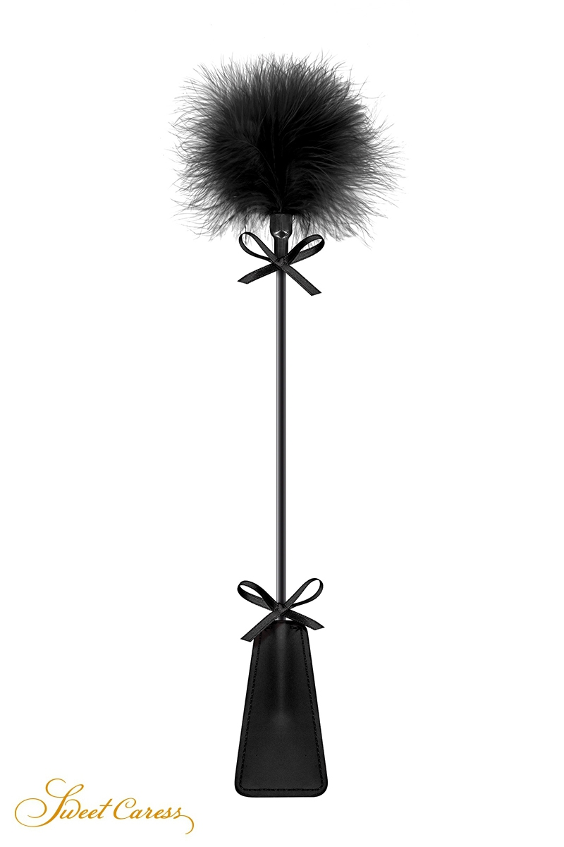 Tapette avec pompon noir - Sweet Caress