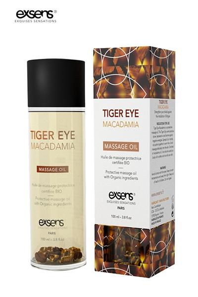 Huile massage BIO Oeil de Tigre Macadamia Exsens