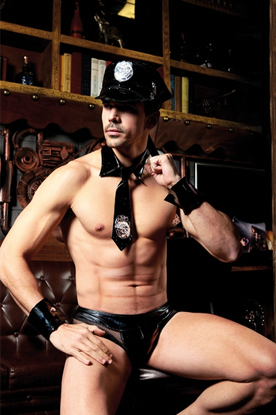 Déguisement homme sexy policier 5 pièces