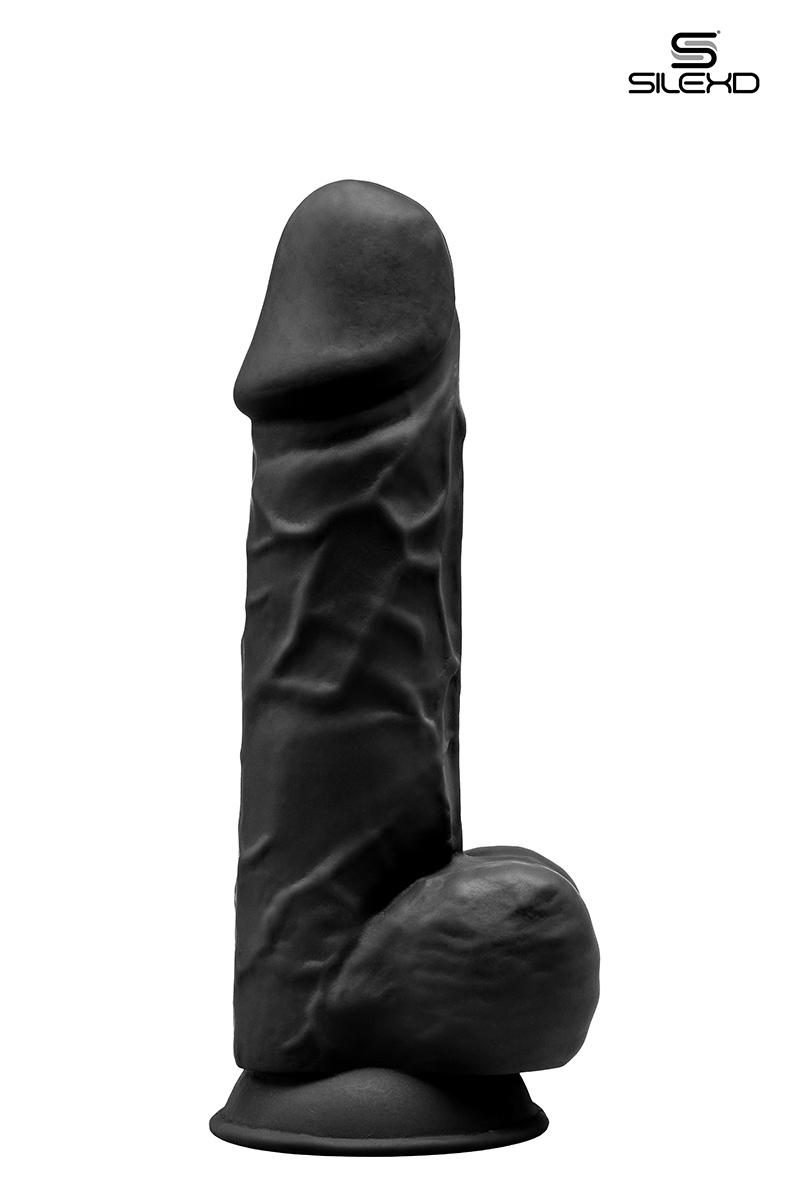 Gode double densité noir 21,5 cm Modèle 4