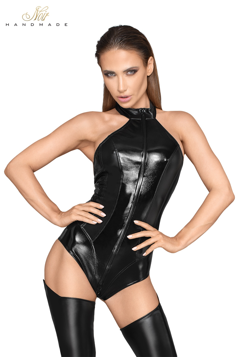 Body faux cuir et wetlook F198