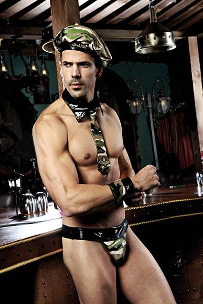 Déguisement homme sexy militaire 5 pièces