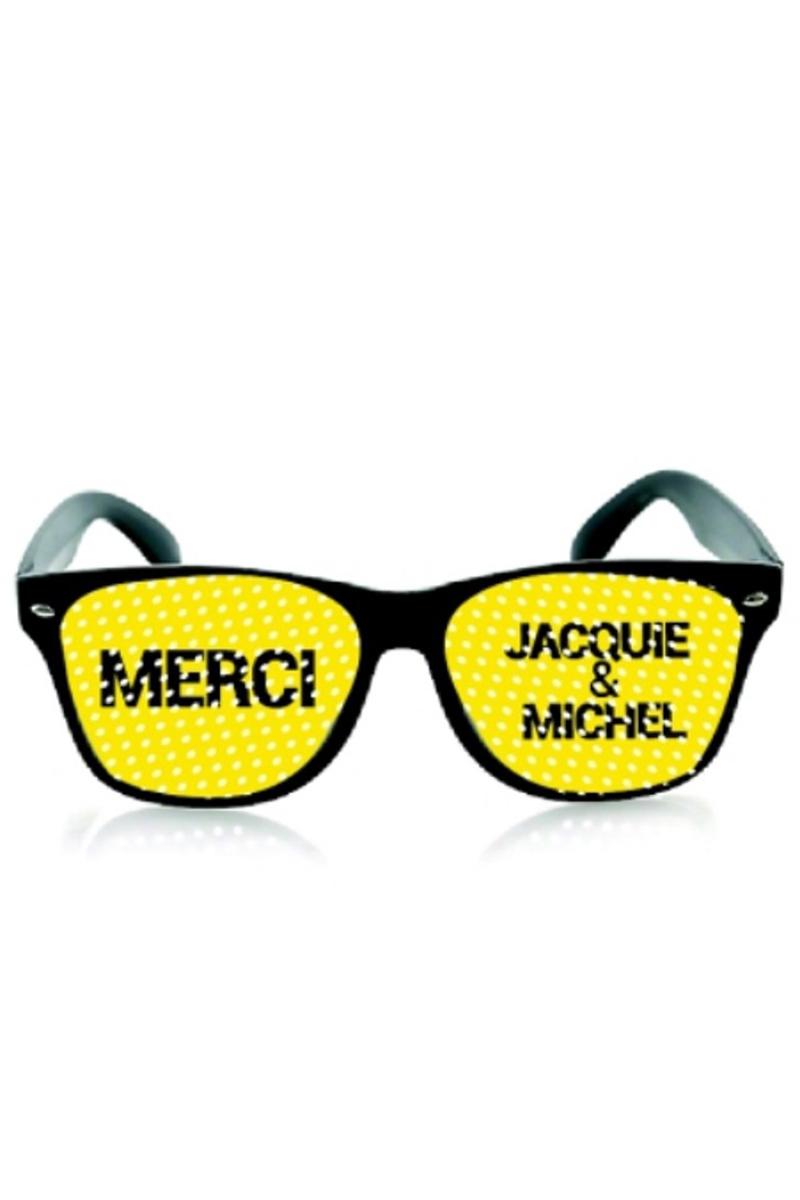 Lunettes noir jaune - Jacquie & Michel