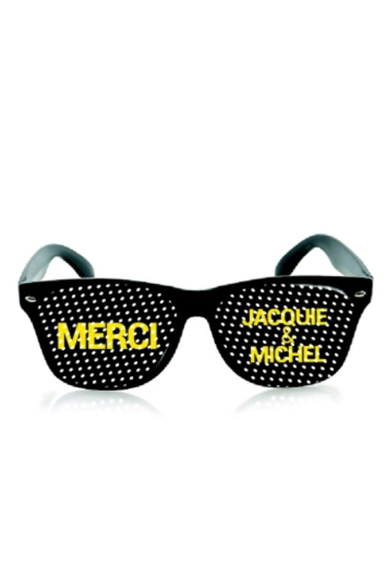 Lunettes noir - Jacquie & Michel