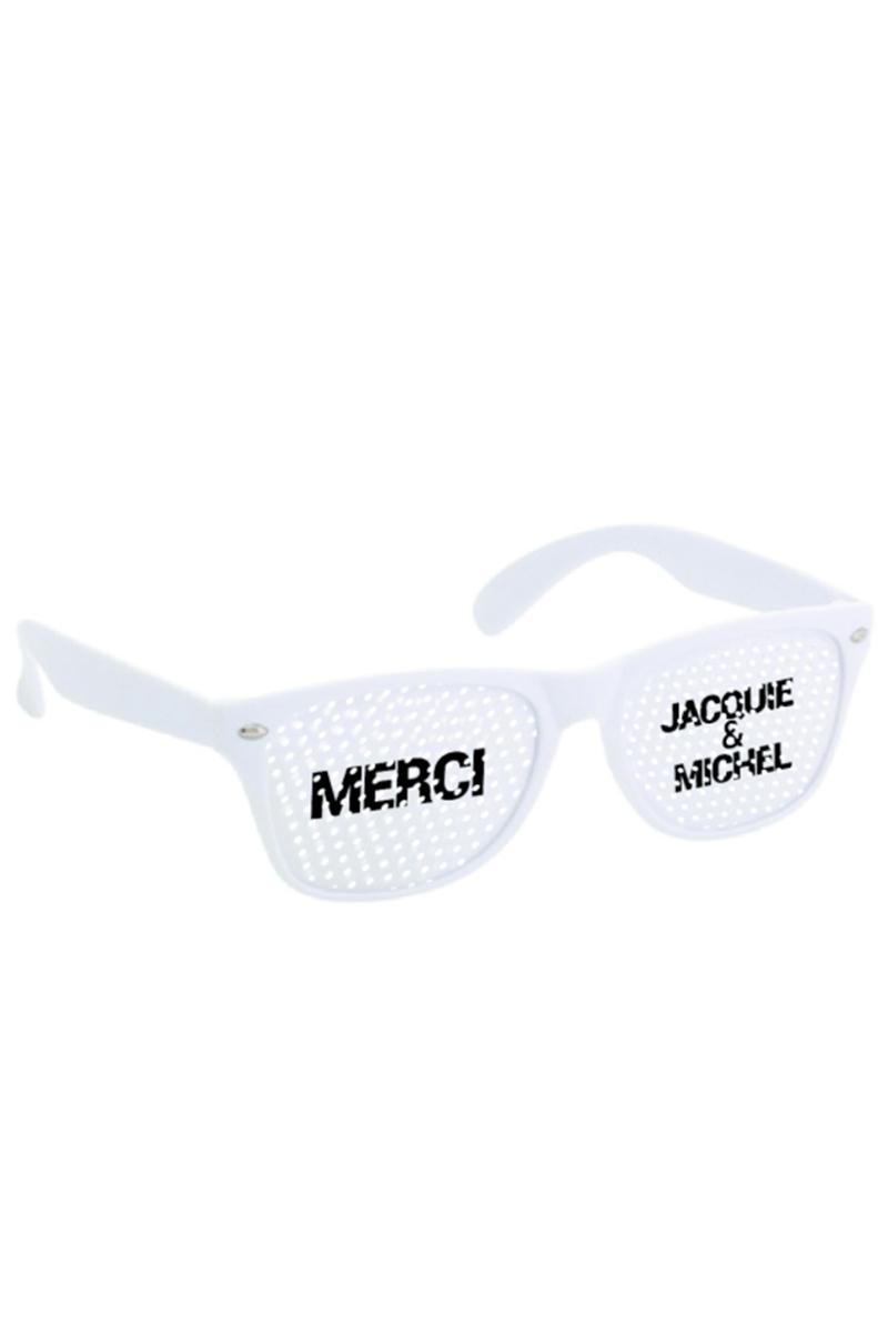 Lunettes Blanche - Jacquie & Michel