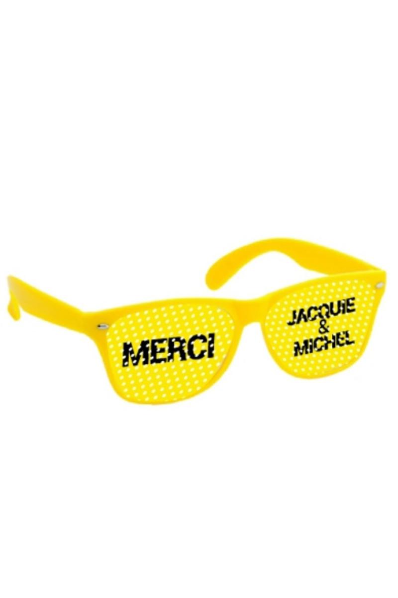 Lunettes jaune - Jacquie & Michel