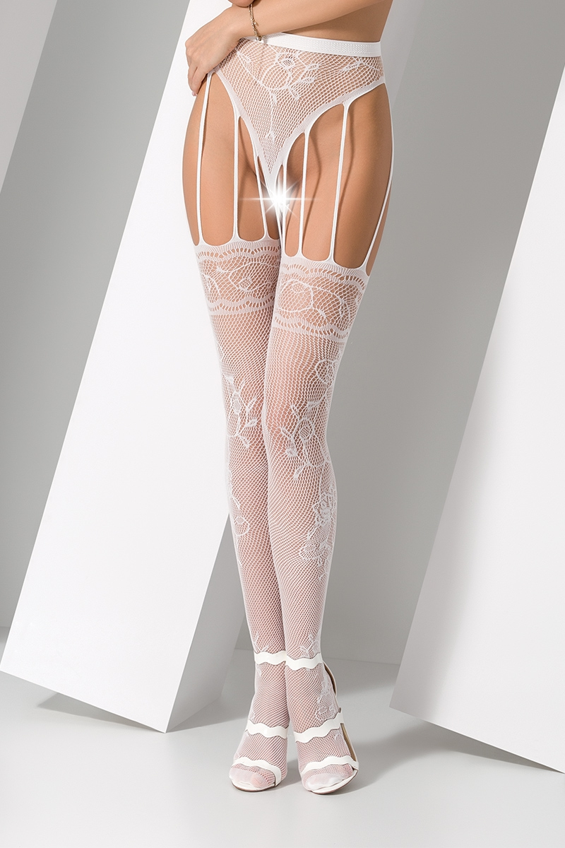 Collants ouverts S016  Blanc
