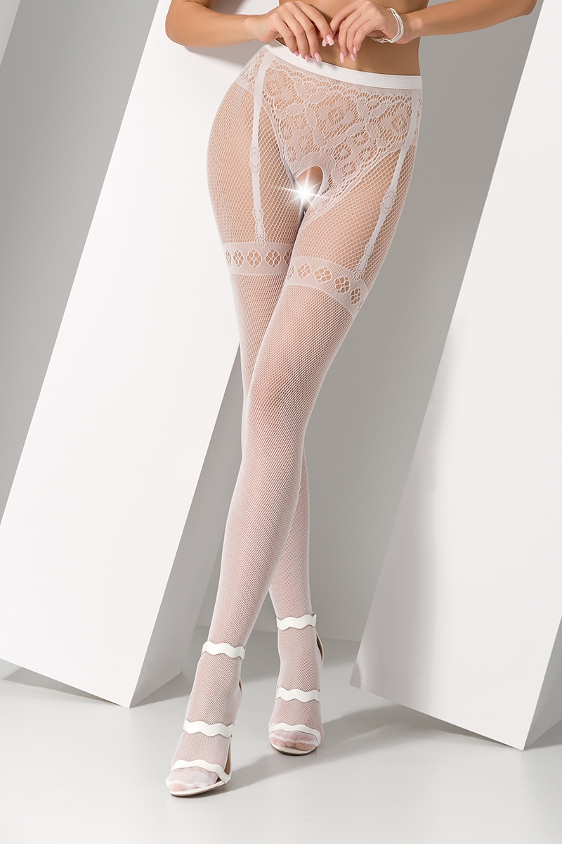 Collants ouverts S012 - Blanc
