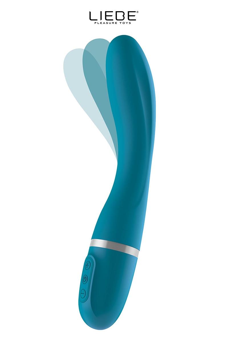Vibromasseur flexible bleu