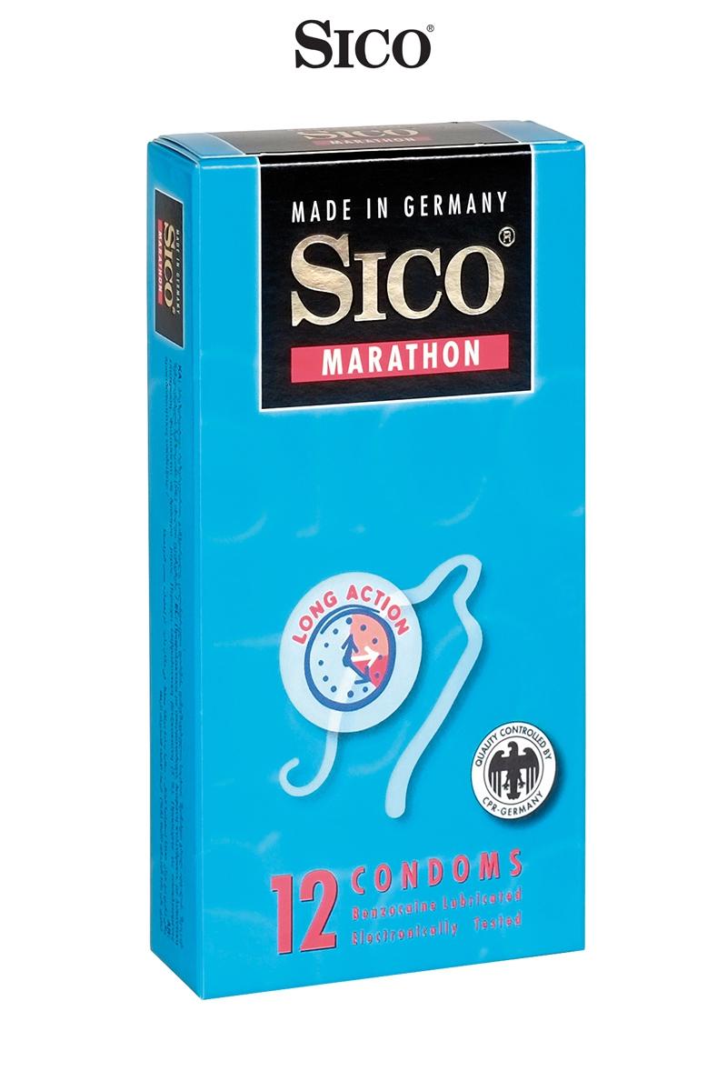12 préservatifs Sico MARATHON