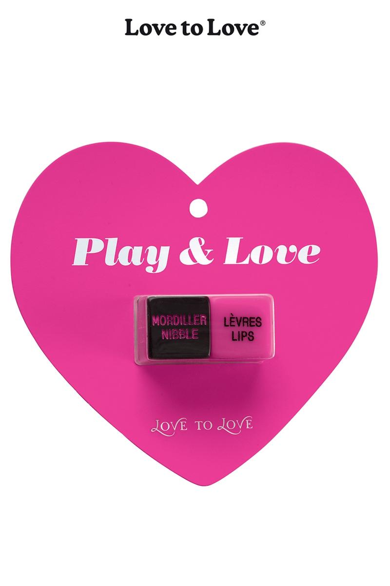 Dés à jouer Play & Love